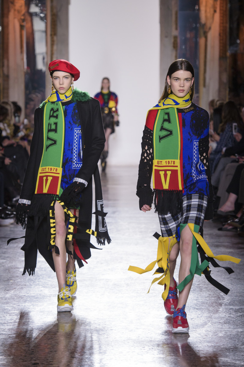 Looks from Versace's Fall 2018 show. Photo: Imaxtree