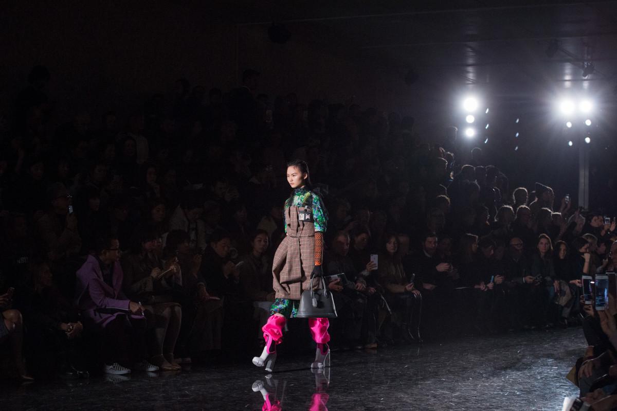 Prada Fall 2018 runway show. Photo: Imaxtree