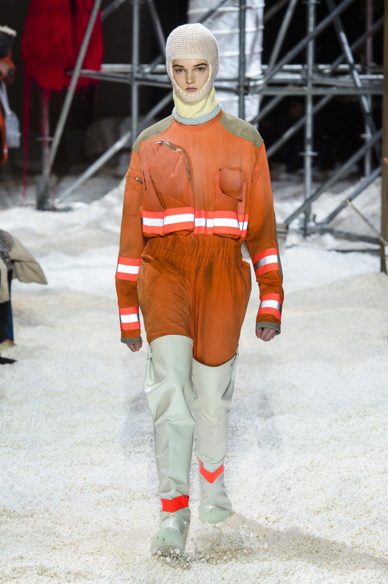 A look from Calvin Klein's Fall 2018 collection. Photo: Imaxtree