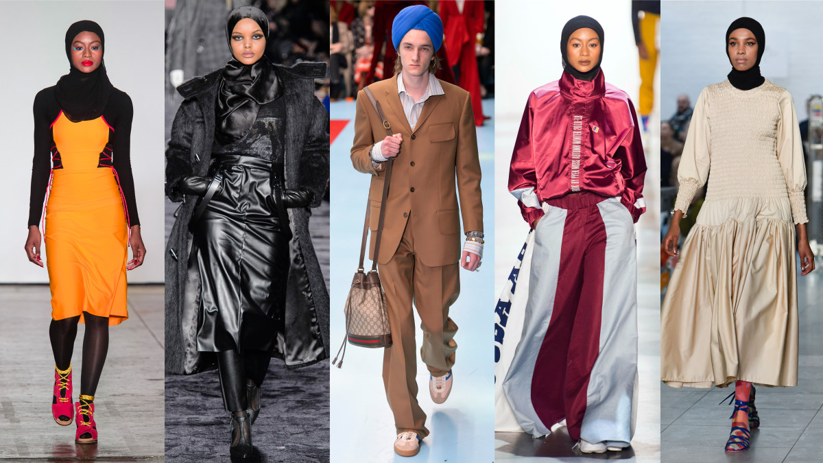 Looks from Chromat, Max Mara, Gucci, Pyer Moss and Molly Goddard on the Fall 2018 runways. Photos: Imaxtree, Molly Goddard