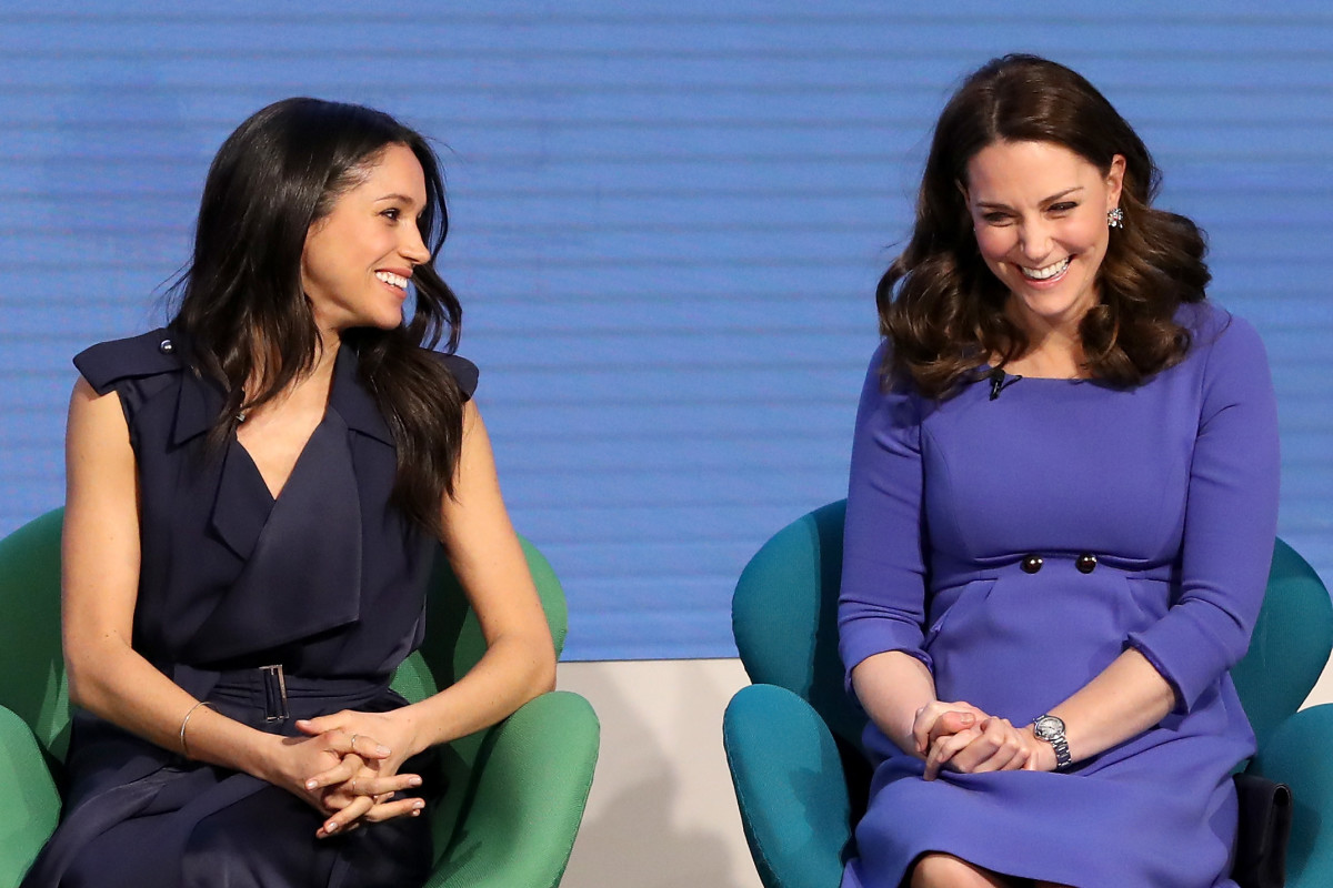 Meghan Markle and Kate Middleton at the first annual Royal Foundation Forum in London. Photo: Chris Jackson - WPA Pool/Getty Images