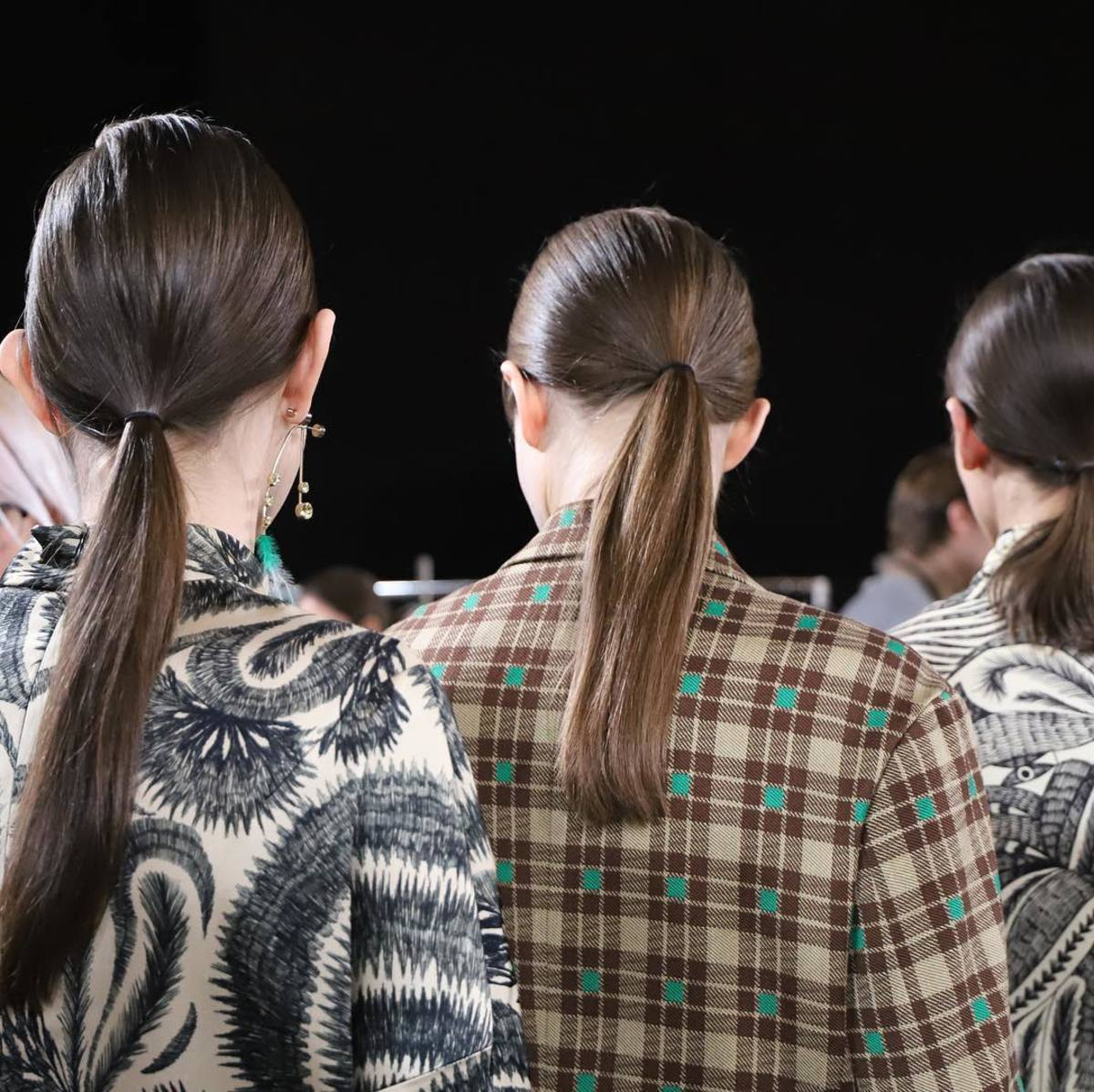The hair at Dries Van Noten's Fall 2018 show. Photo: @hairbysammcknight/Instagram