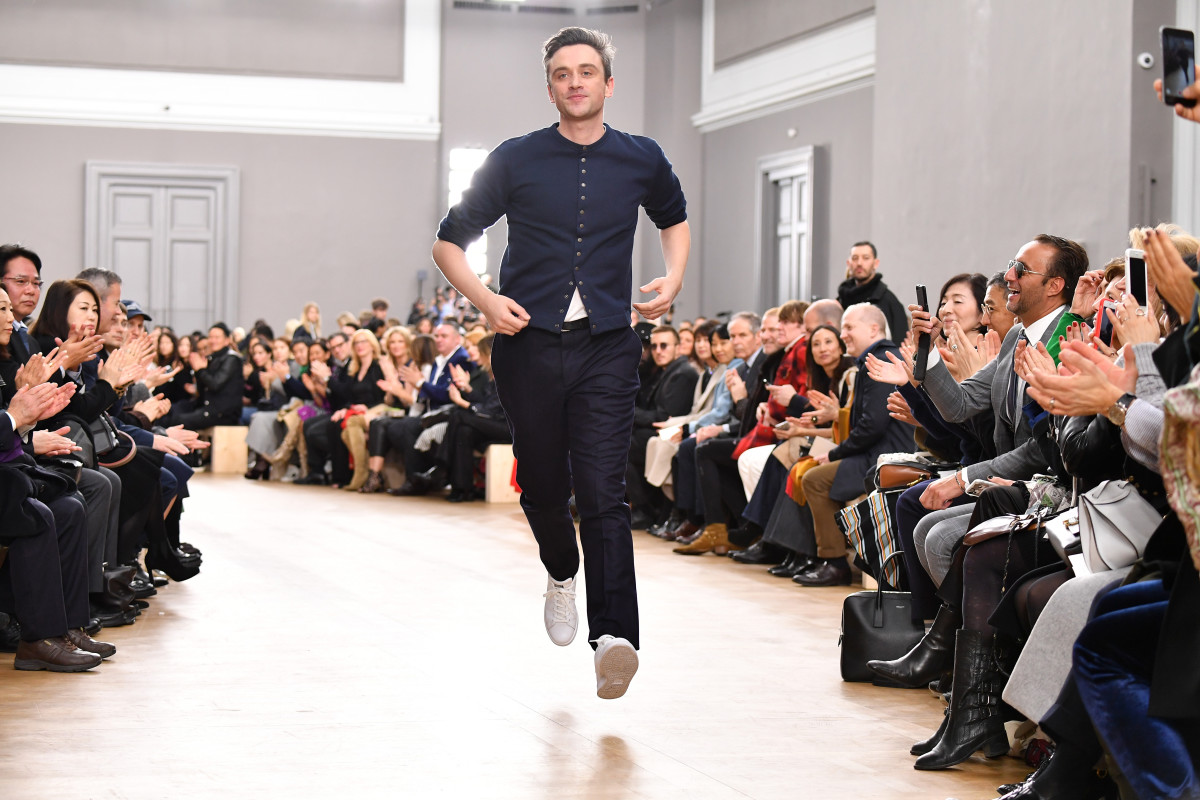 Guillaume Henry on the Fall 2018 Nina Ricci runway. Photo: Pascal Le Segretain/Getty Images