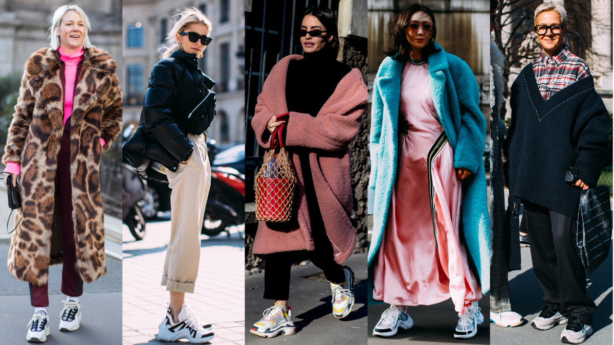 Showgoers Wore Chunky Sneakers On Day 2 Of Paris Fashion Week Fashionista