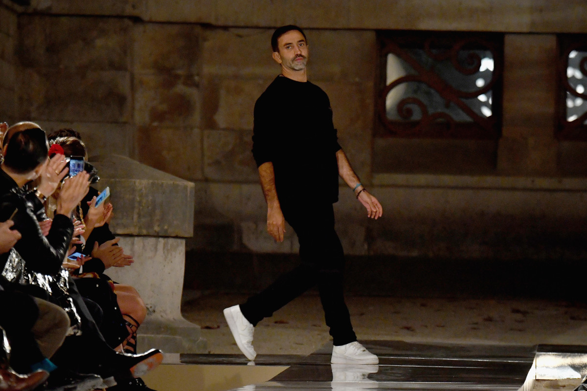 Riccardo Tisci at Givenchy's Spring 2017 show. Photo: Pascal Le Segretain/Getty Images
