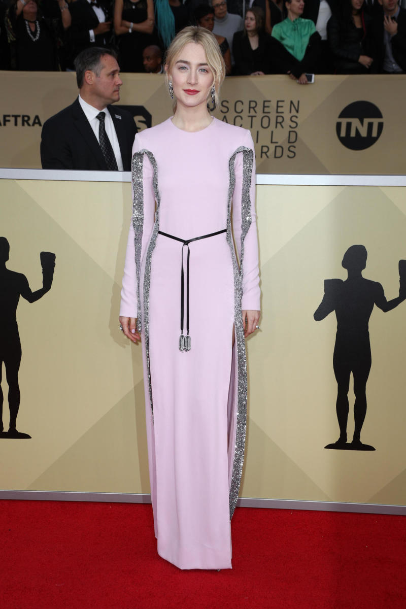 Saoirse Ronan in Louis Vuitton at the SAG Awards.Photo: Frazer Harrison/Getty Images