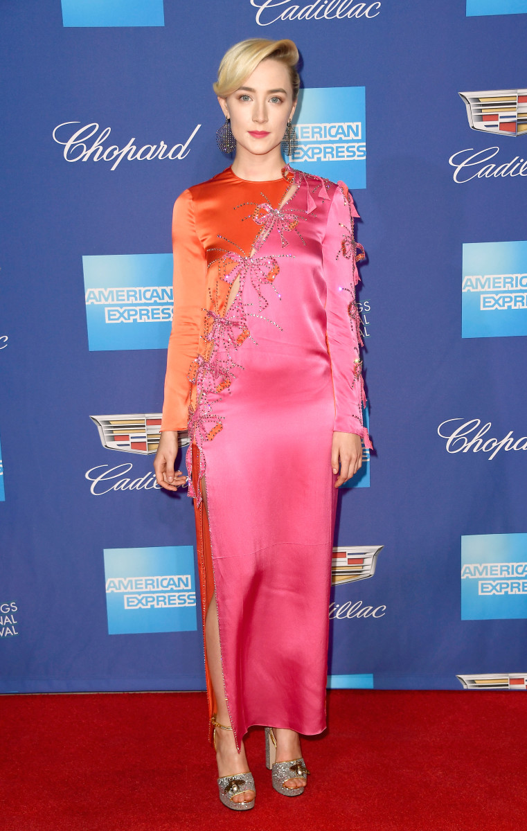 Saoirse Ronan in Gucci at the Palm Springs Film Festival.Photo: Frazer Harrison/Getty Images
