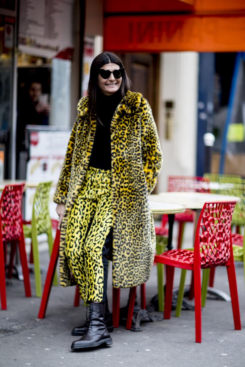Giovanna Battaglia Engelbert during Paris Fashion Week. Photo: Imaxtree