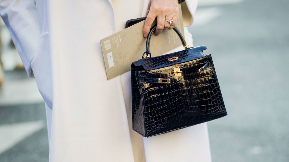 Street style from Paris Fashion Week. Photo: Christian Vierig/Getty Images (Note: this photo is not intended to depict a counterfeit handbag.)