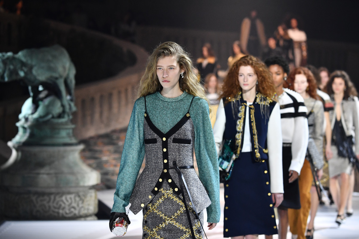 Looks from Louis Vuitton's Fall 2018 show. Photo: Pascal Le Segretain/Getty Images