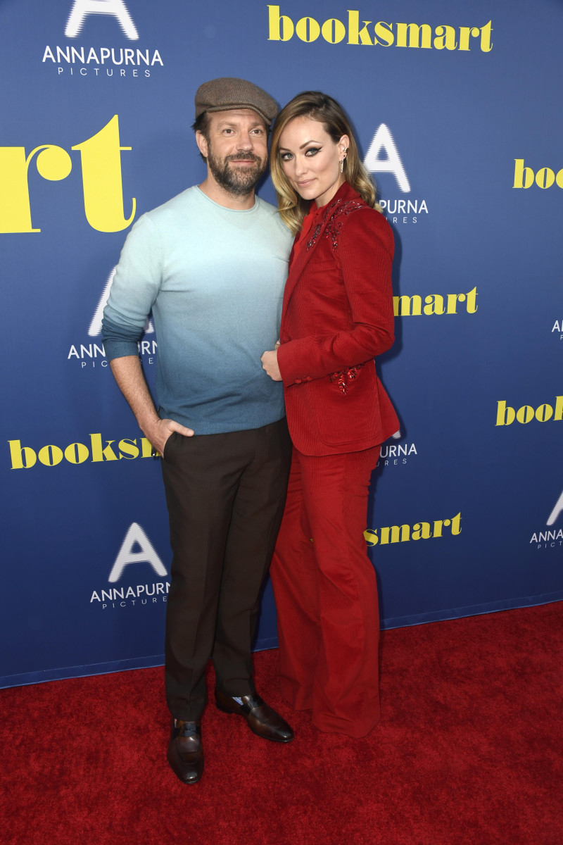 """Jason Sudeikis and Olivia Wilde at a screening of """"Booksmart"""" in Los Angeles. Photo: Frazer Harrison/Getty Images"""