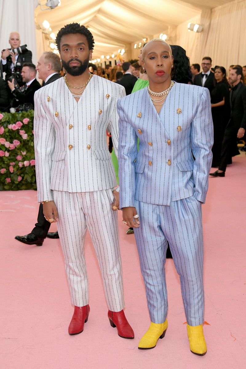 Kerby Jean-Raymond and Lena Waithe attend the 2019 Met Gala Celebrating Camp: Notes on Fashion at the Met in New York City. Photo: Neilson Barnard/Getty Images