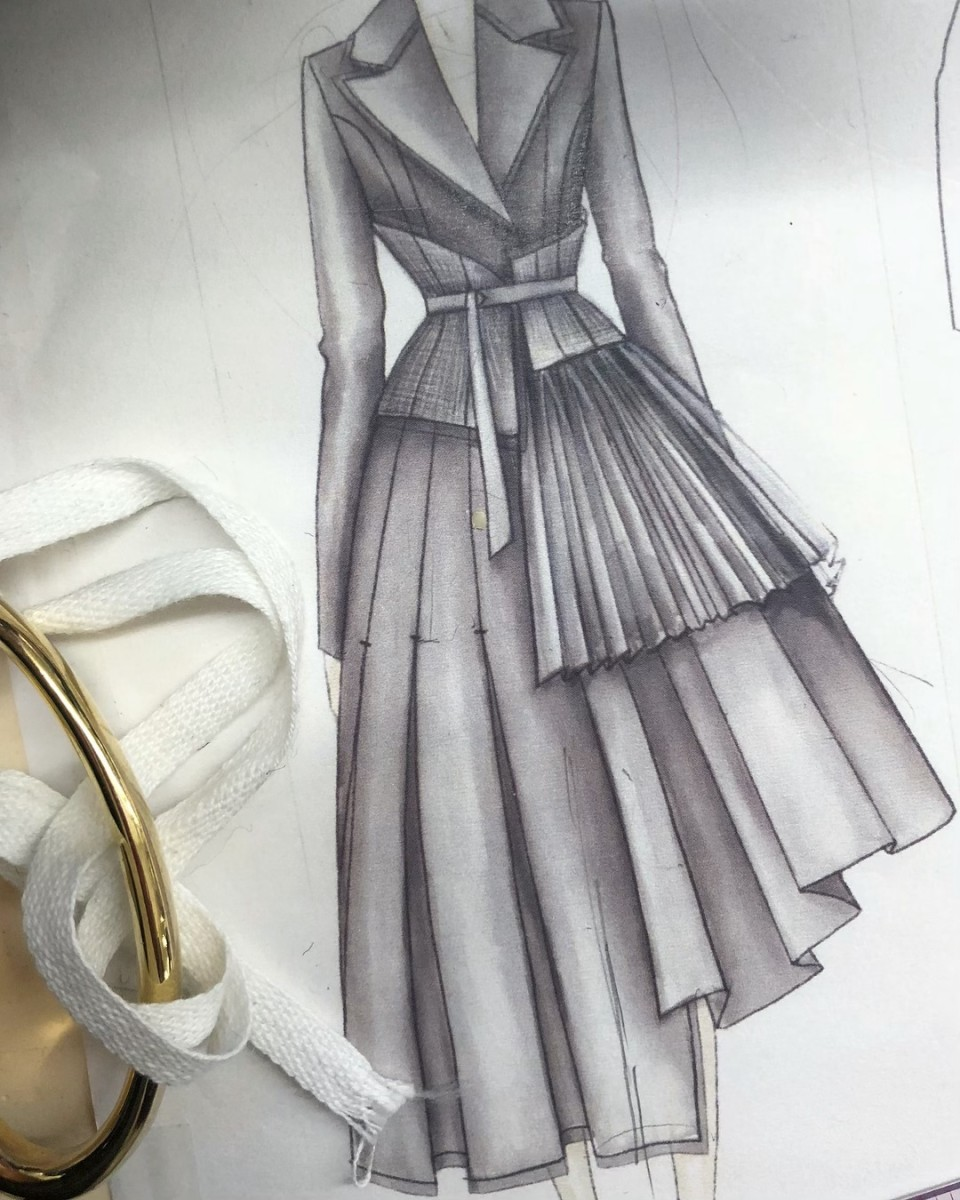 Jamie Lee's Jason Wu sketch. Photo: Courtesy of Jamie Lee