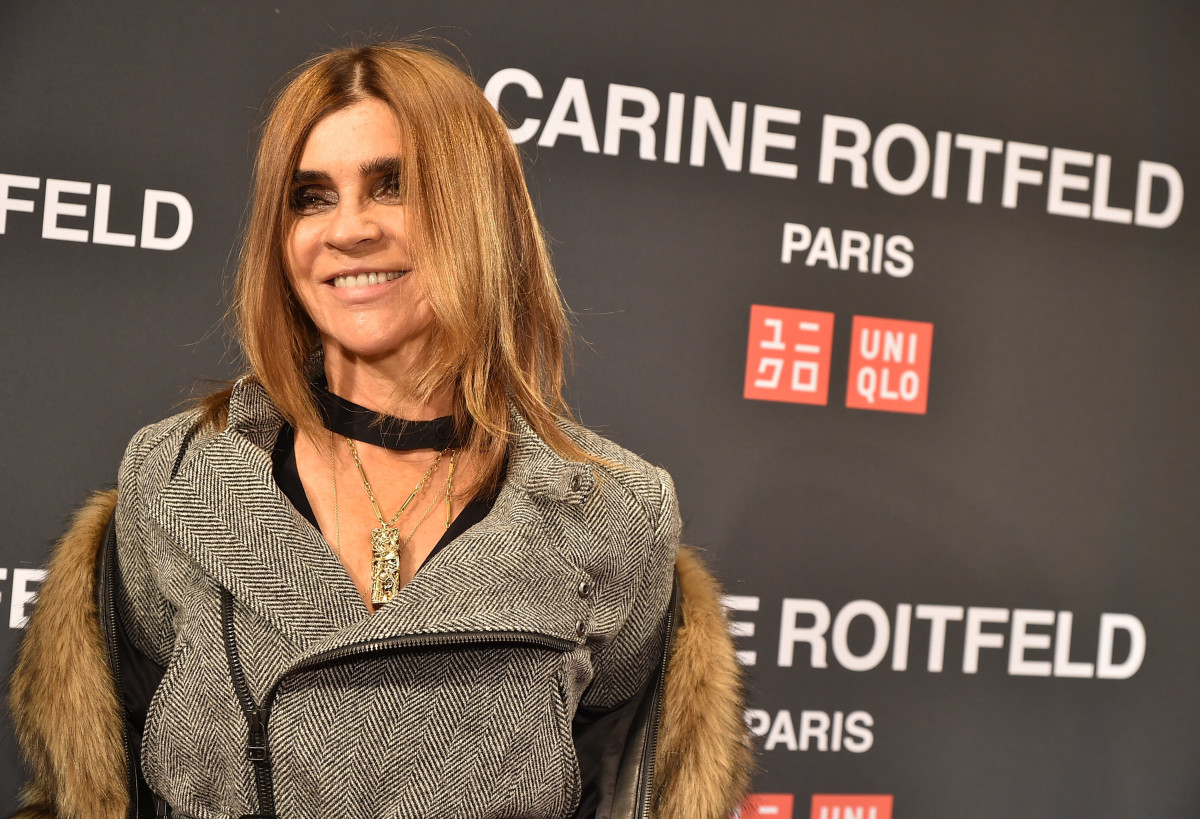 Carine Roitfeld atthe UNIQLO Fall 2016 Carine Roitfeld collection launch. Photo: Theo Wargo/Getty Images