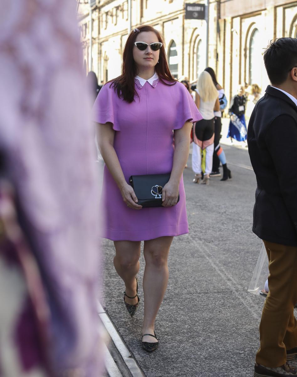 On the street at Mercedes-Benz Fashion Week Australia. Photo: Lee Oliveira/Fashionista