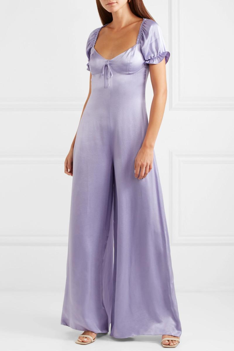 Staud Naomi Satin Jump Suit, $310, available here.