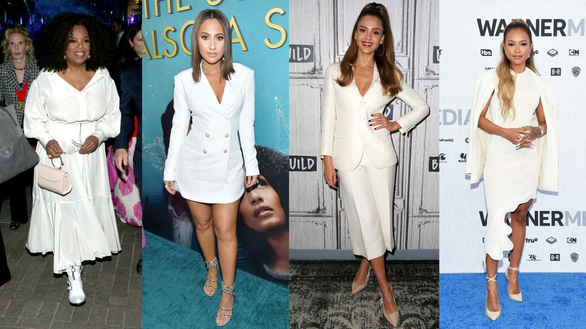 L-R: Oprah Winfrey, Francia Raisa, Jessica Alba and Karrueche Tran. Photo: Getty Images