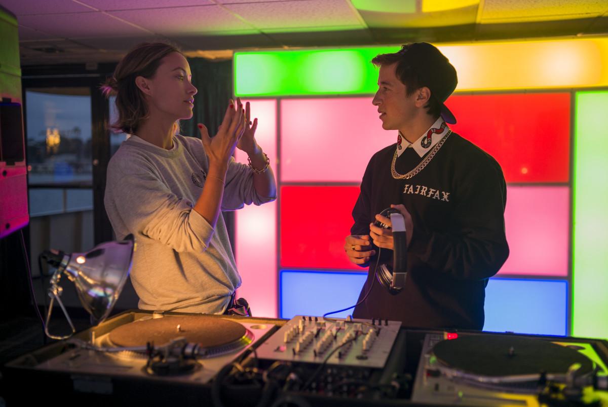 Olivia Wilde and Skyler Gisondo playing Jared. Francois Duhamel/Courtesy of Annapurna Pictures