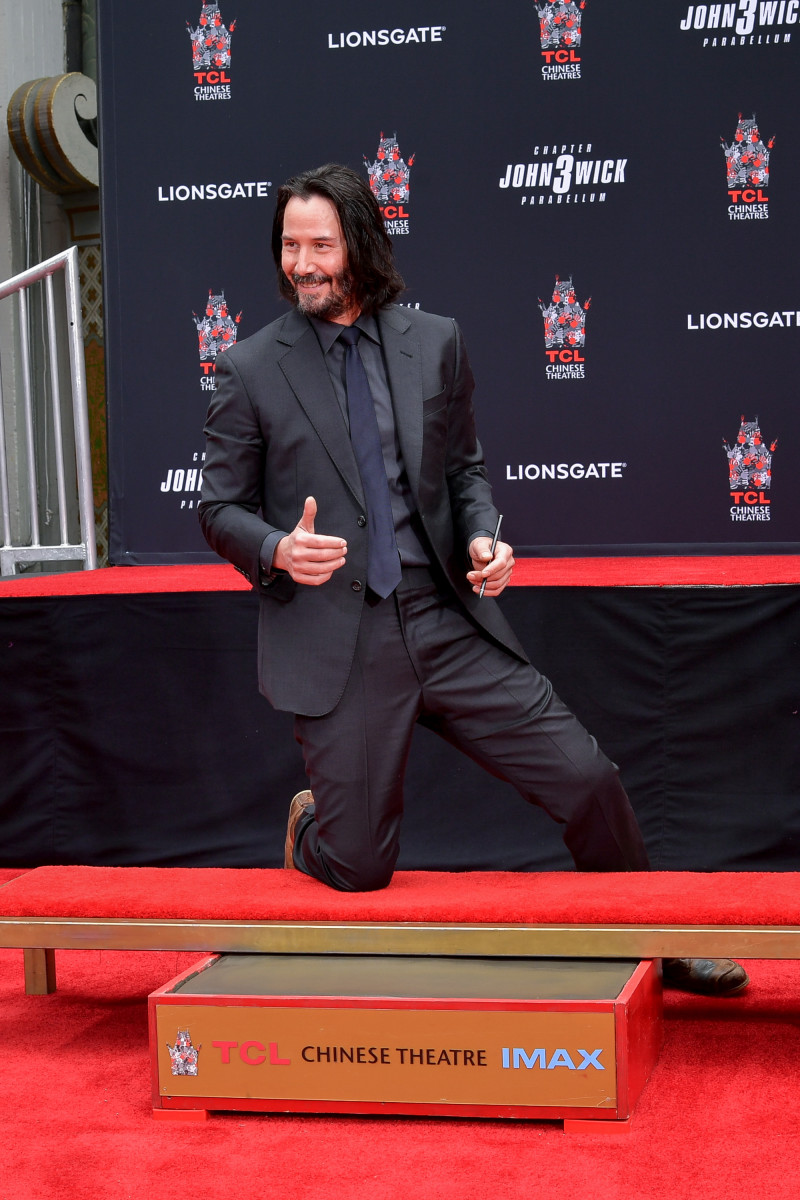 Keanu Reeves at his long overdue handprint ceremony at the TCL Chinese Theatre IMAX on May 14, 2019. Photo: Emma McIntyre/Getty Images