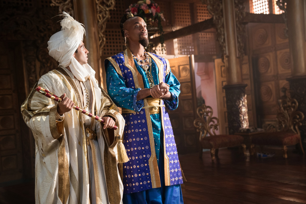 Prince Ali a.k.a. Aladdin and a pared down Genie (Will Smith). Photo: Courtesy of Disney