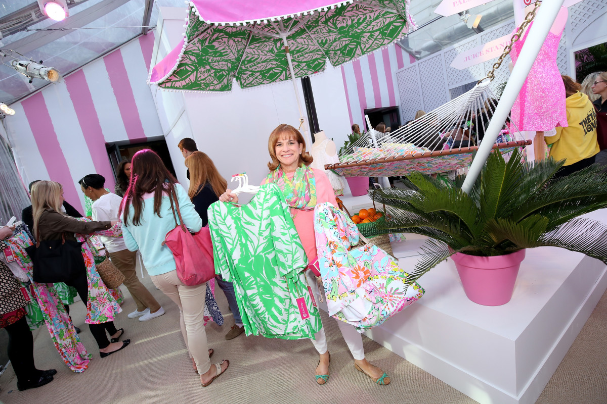 Shoppers at the Lilly Pulitzer for Target pop-up shop at Bryant Park Grill in New York City. Photo: Cindy Ord/Getty Images for Target