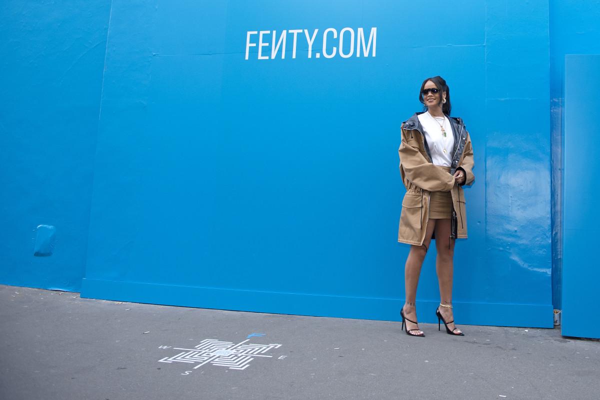 Rihanna attends the Fenty Exclusive Preview in Paris, France. Photo: Aurelien Meunier/Getty Images For Fenty