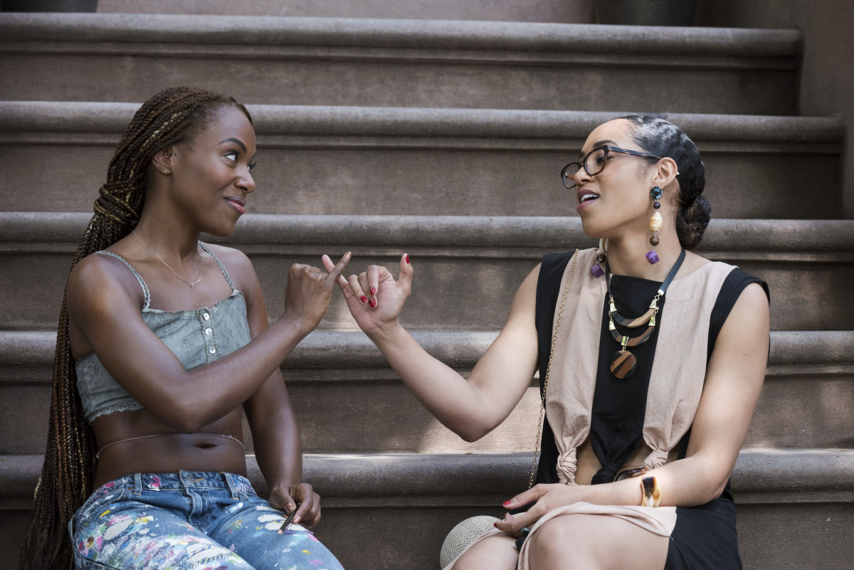 Nola Darling (DeWanda Wise) and Clorinda Bradford (Margot Bingham.) Photo: Courtesy of Netflix