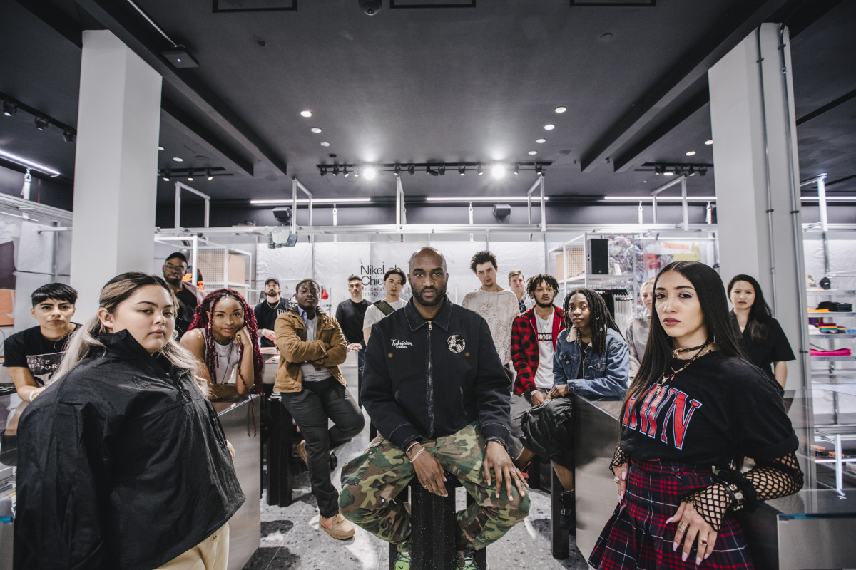 Virgil Abloh in the Re-Creation Center in Chicago. Photo: Courtesy of Nike