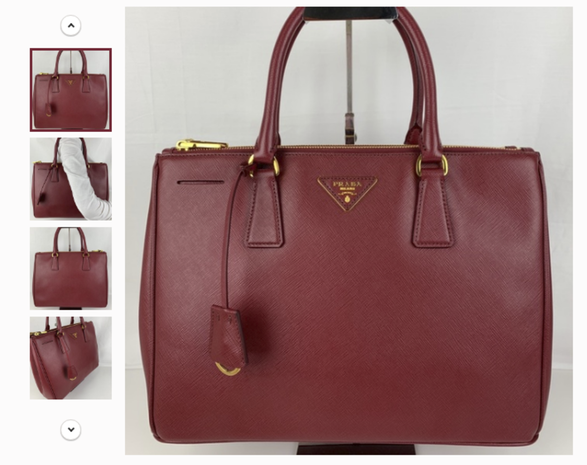 A Prada bag for sale on Shannon Jean's Poshmark store Rebounded. Photo: Courtesy of Shannon Jean