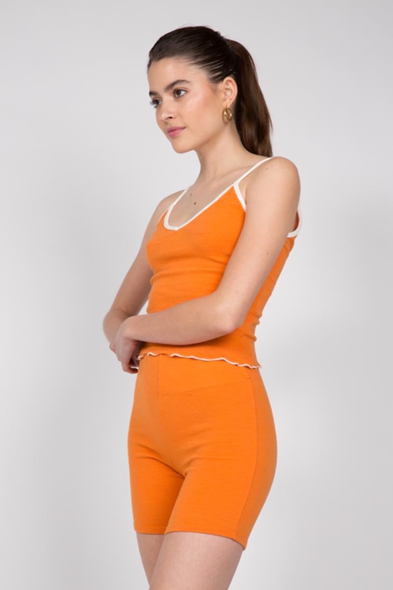 Liana Soto Short Set Top, $57, available here; Liana Soto Short Set Bottom, $60, available here.