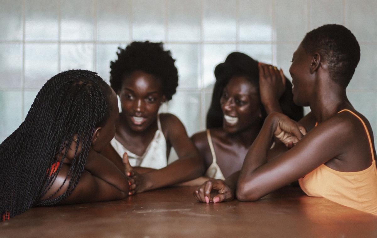 Abena Boamah, second in from right. Photo: Ethel-Ruth Tawe/Courtesy of Hanahana Beauty