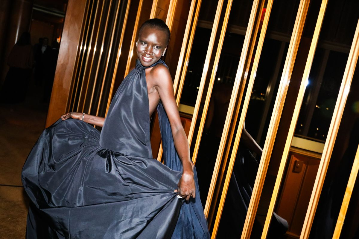 Alek Wek at the CFDA Fashion Awards After Party at Top of The Standard. Photo: Courtesy