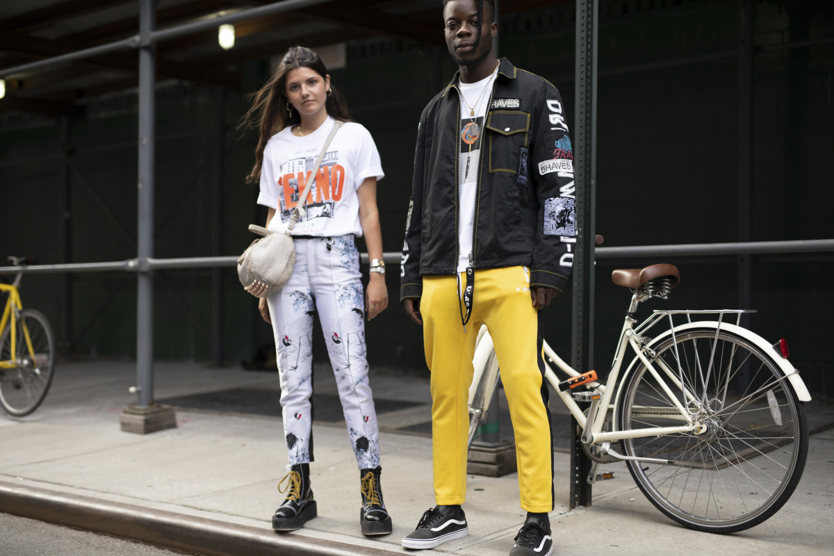 Showgoers at New York Fashion Week Men's. Photo: Imaxtree