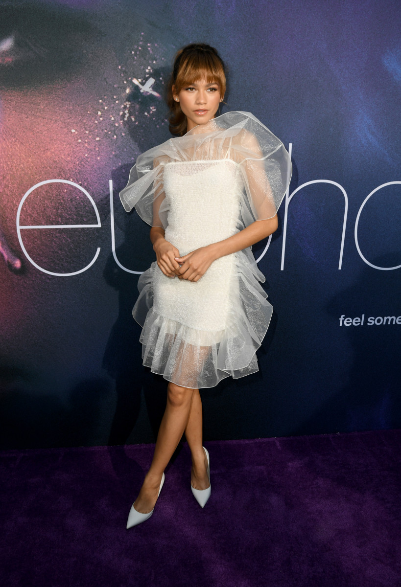 "Zendaya in Nina Ricci at the premiere of ""Euphoria."" Photo: Kevin Winter/Getty Images"