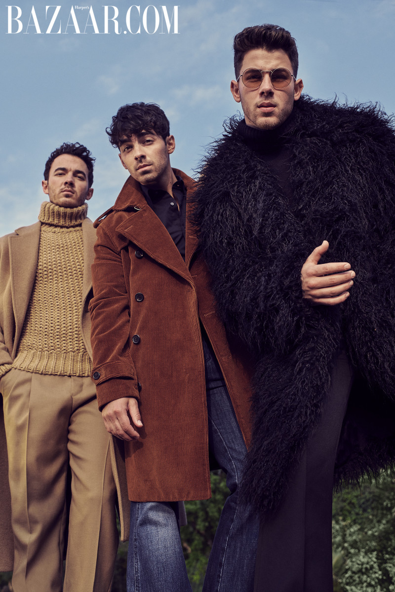 "The Jonas Brothers on the first-ever men's digital cover for ""Harper's Bazaar."" Photo: Eric Ray Davidson"