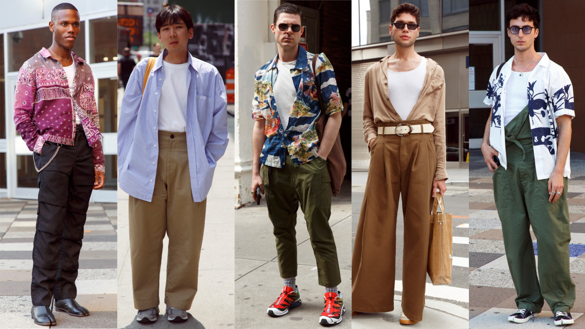 New York Mens Fashion Week 2020 White Tanks and Undershirts Were a Street Style Favorite at New