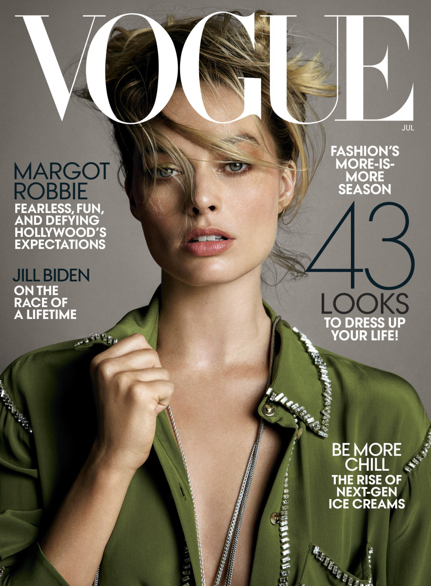 "Margot Robbie on the July 2019 cover of ""Vogue."" Photo: Inez & Vinoodh"