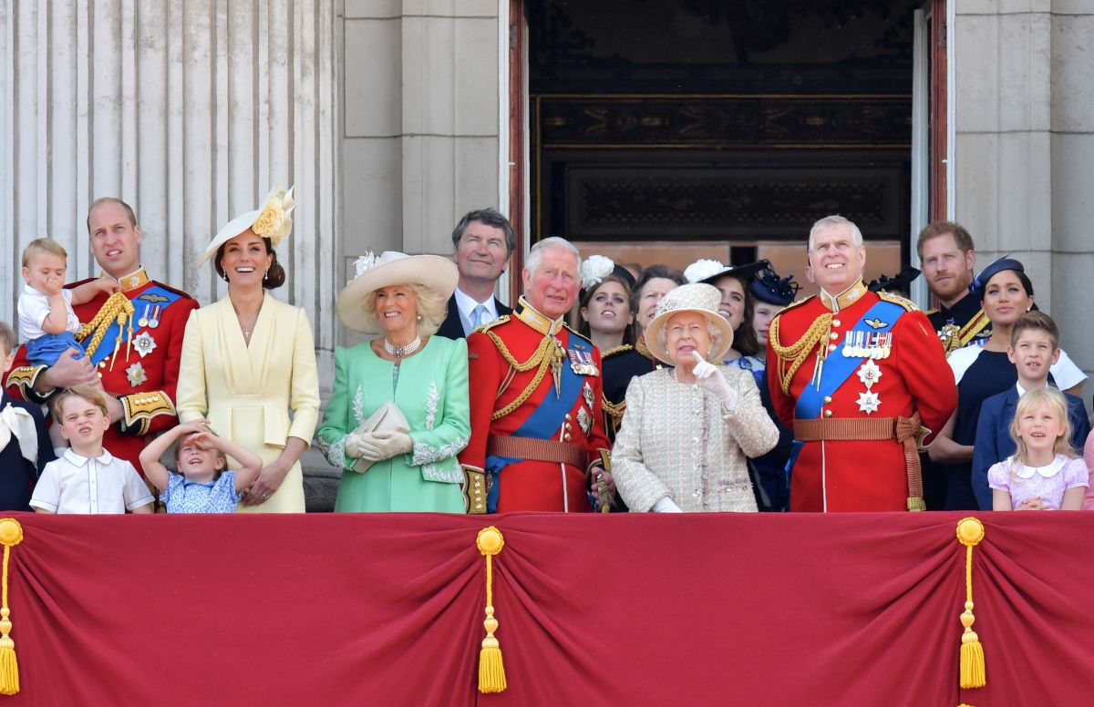 The Royal Family view the 2019 Trooping the Colour. Photo: Daniel Leal-Olivas/AFP/Getty Images