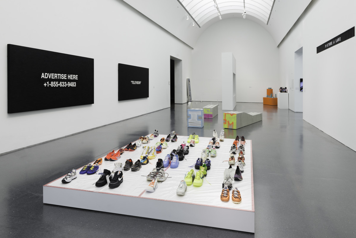 """Inside """"Virgil Abloh: 'Figures of Speech.'"""" Photo:Nathan Keay/Courtesy of the Museum of Contemporary Art"""