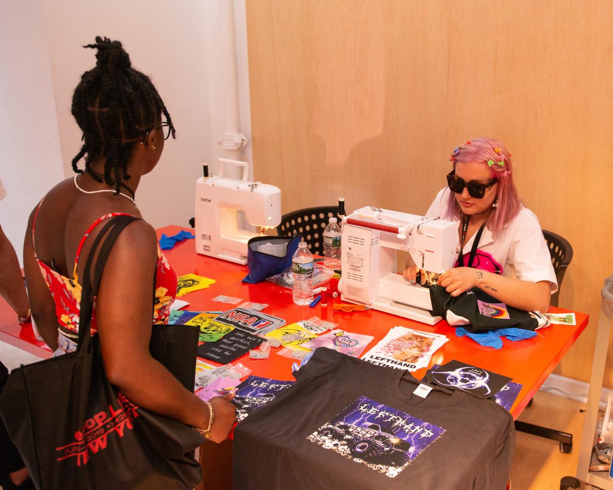 A DIY activationstation at Depop Live 2019 in New York City. Photo: Madison Voelkel/BFA.com, Courtesy of Depop