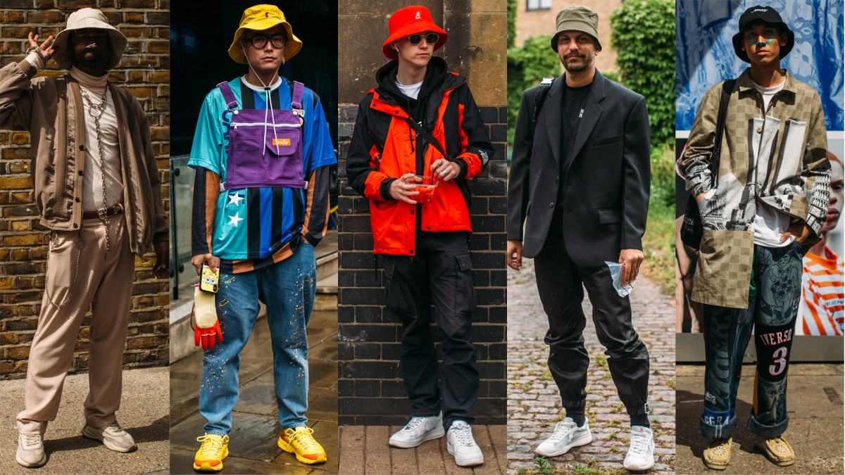 Street style at London Fashion Week Men's Spring 2020. Photos: Imaxtree