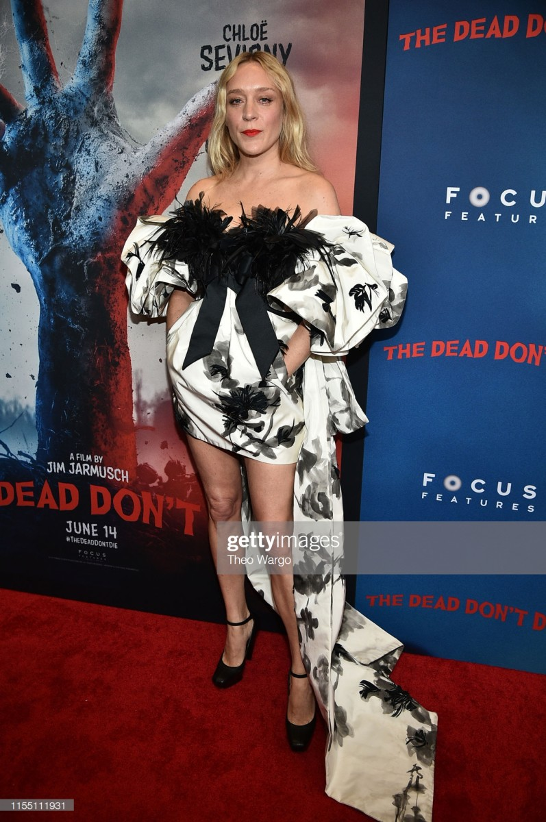 """Chloë Sevigny in Marc Jacobs at the premiere of """"The Dead Don't Die in New York. Photo: Theo Wargo/Getty Images"""