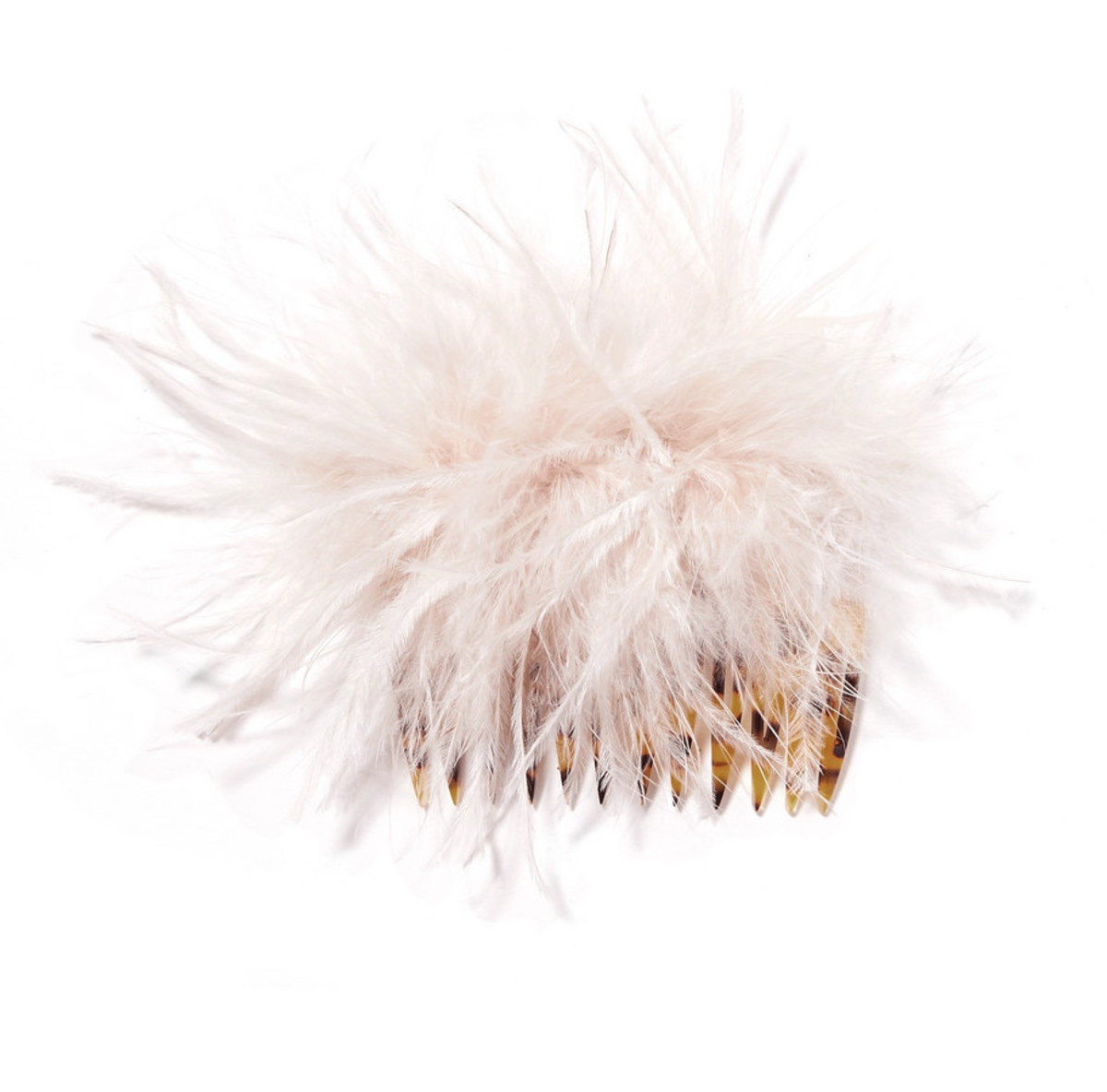 Loeffler Randall Josie Feather-Embellished Hair Comb, $65, available here.