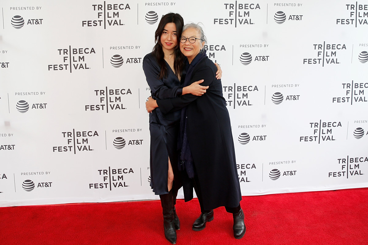 Erskine with her mother Mutsuko at the Tribeca Film Festival premiere of 'Plus One.' Photo:Dominik Bindl/Getty Images