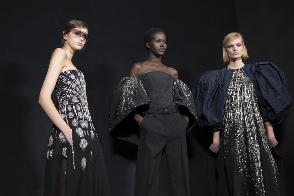 Models backstage at Givenchy's Fall 2019 show. Photo: Imaxtree