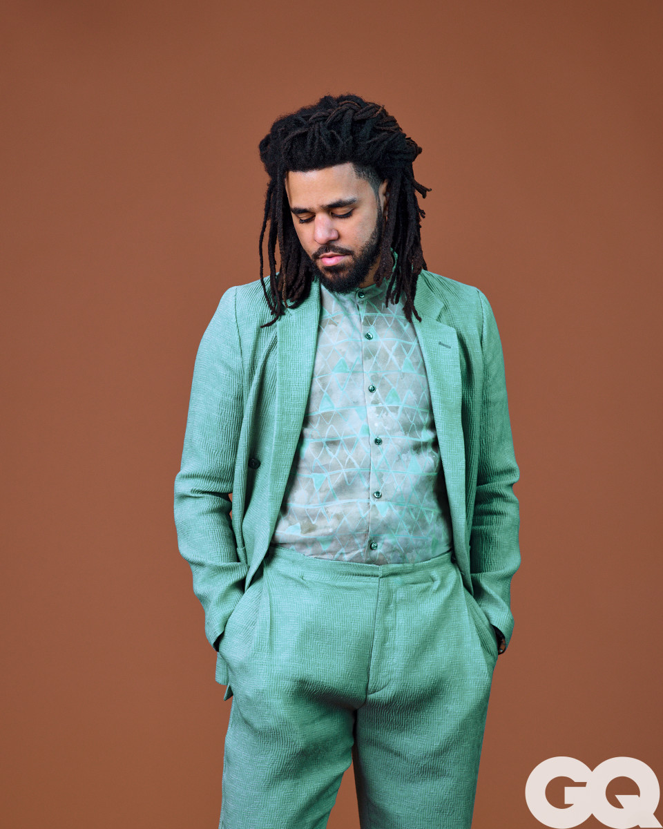 "J. Cole for ""GQ."" Photo: Awol Erizku/Courtesy of ""GQ"""