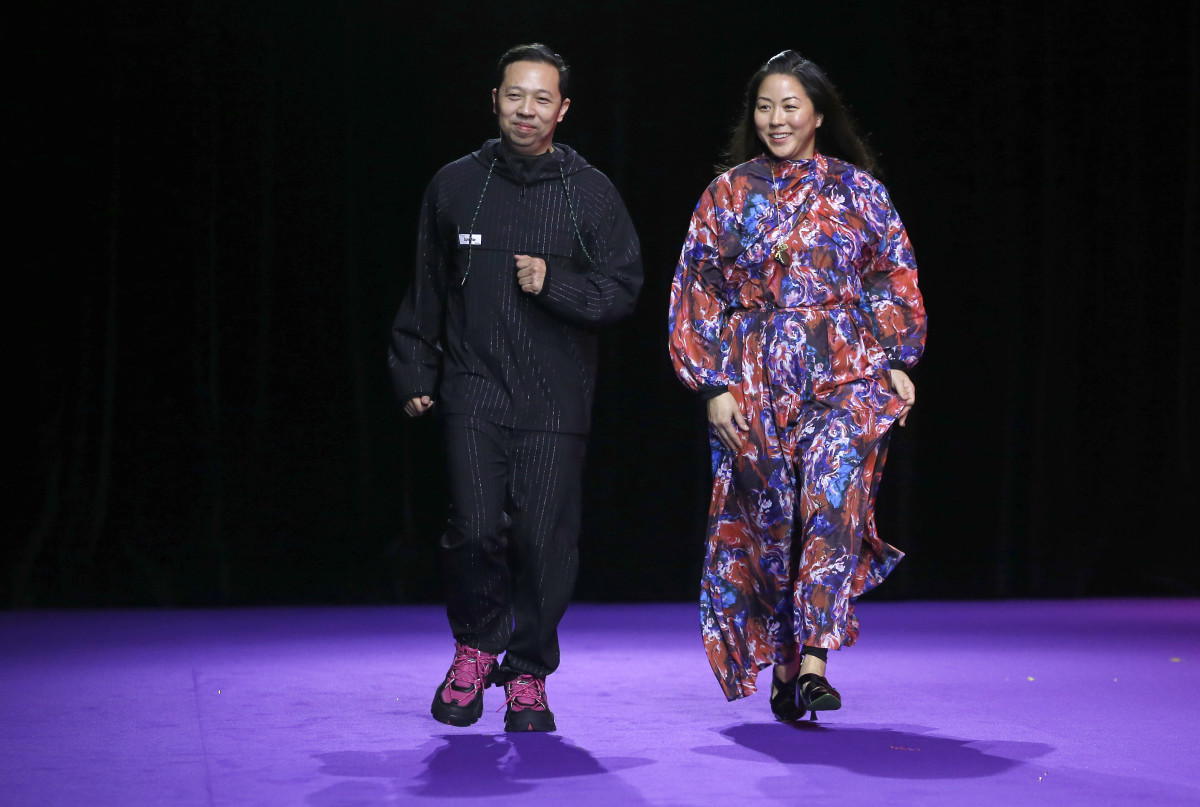 Humberto Leon and Carol Lim at the Kenzo Menswear Fall 2019 show. Photo: Thierry Chesnot/Getty Images