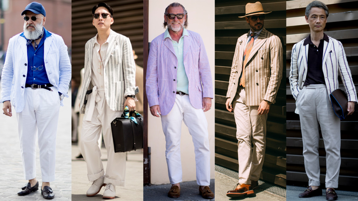 The Street Style Crowd Wore Striped Blazers at Pitti Uomo