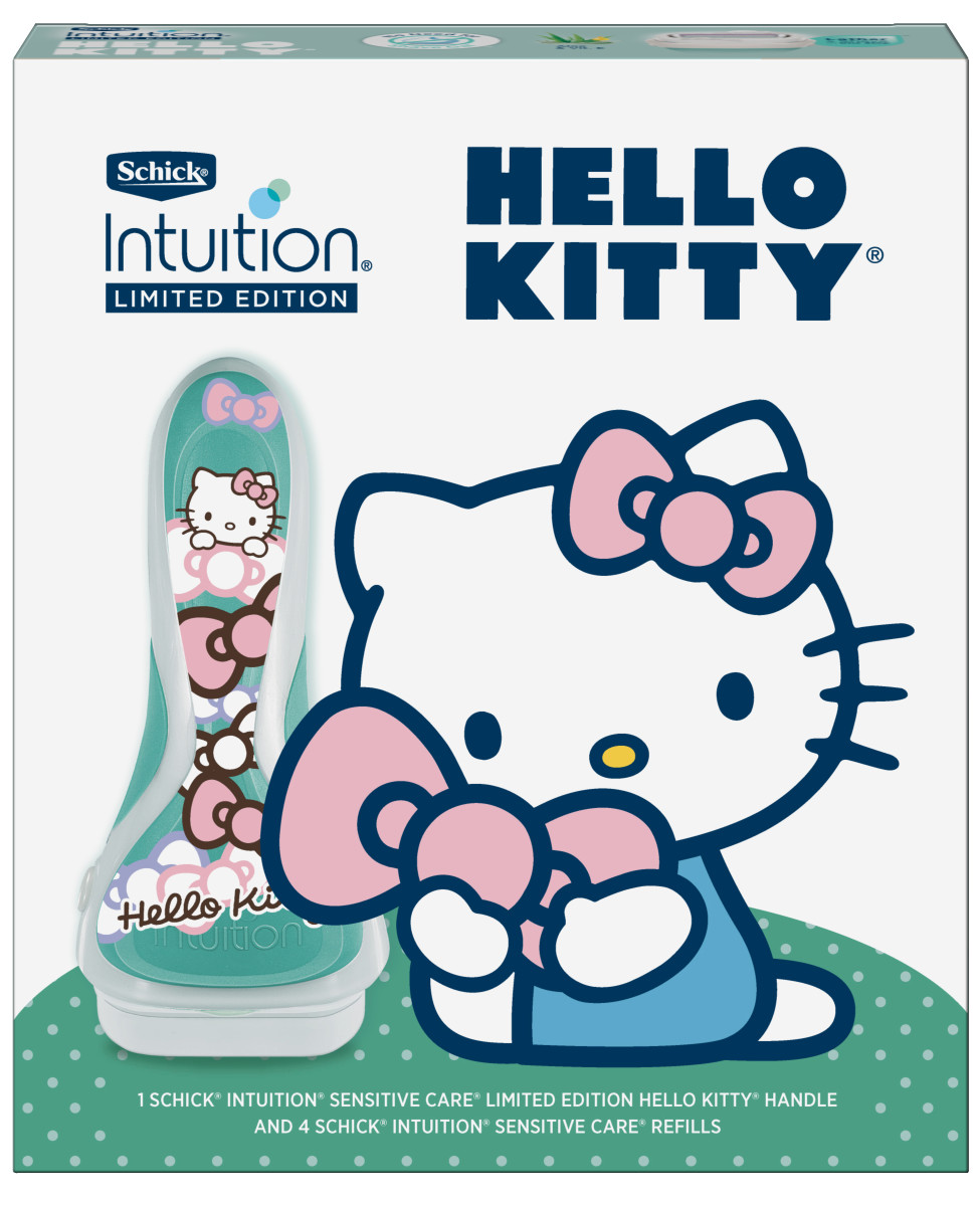 Schick Intuition Limited Edition Hello Kitty Razor Gift Pack, $19.99, available here.