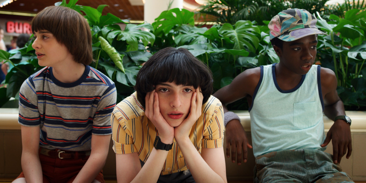 Will (Noah Schnapp), Mike (Finn Wolfhard) and Lucas (Caleb McLaughlin)